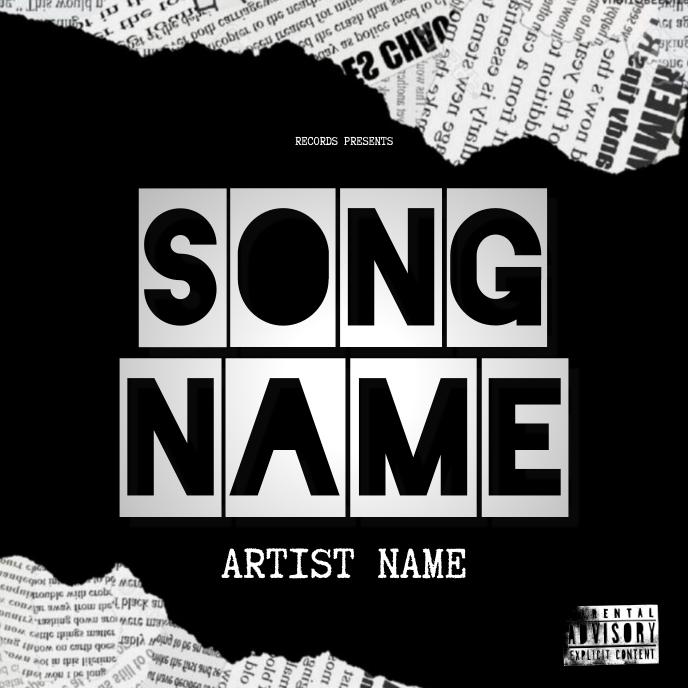 BREAKING NEWS Mixtape Cover Art Template Album Omslag