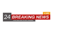 BREAKING NEWS POSTER DESIGN template