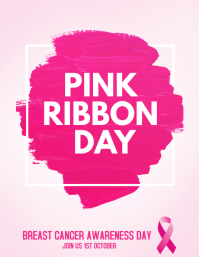 breast cancer, pink ribbon day Flyer (US Letter) template