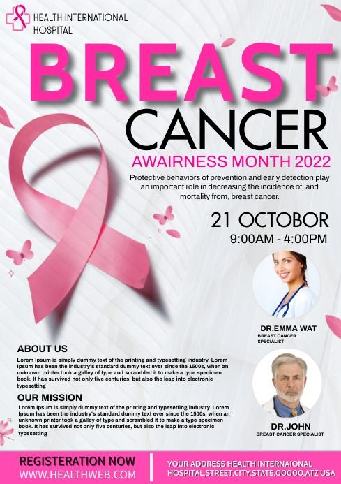 Breast cancer awairness program A4 template