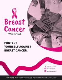 Breast Cancer Awareness Animated Flyer template