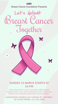 Breast Cancer Awareness Banner Affichage numérique (9:16) template