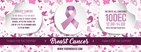Breast Cancer Awareness Banner Design Facebook-Cover template