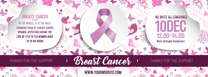 Breast Cancer Awareness Banner Design Template Postermywall