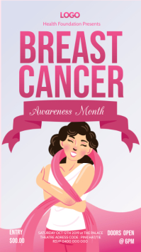 Breast Cancer Awareness Banner Digital Display (9:16) template