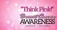 Breast Cancer Awareness Banner TEMPLATE auf Facebook geteiltes Bild