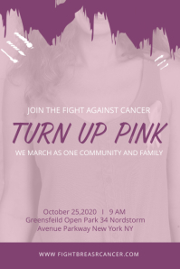 Breast Cancer Awareness Campaign Custom Poster