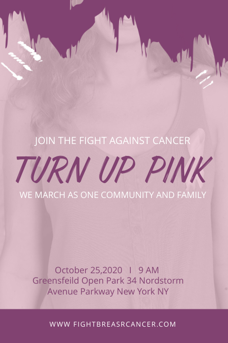 Breast Cancer Awareness Campaign Custom Poster template