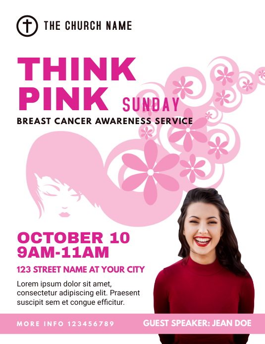 Breast Cancer Awareness Church Event Flyer