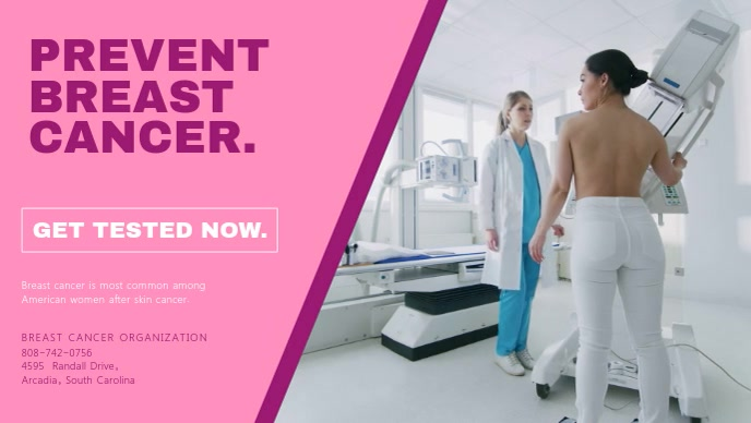 Breast Cancer Awareness Clinic Ad Video Template