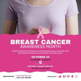 Breast Cancer Awareness Сообщение Instagram template