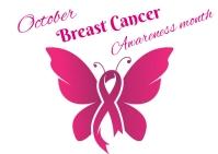 Breast Cancer awareness Carte postale template