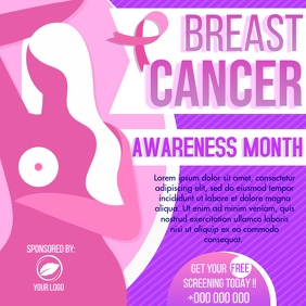 Breast Cancer Awareness Instagram Post template