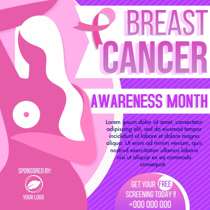 Breast Cancer Awareness Instagram na Post template