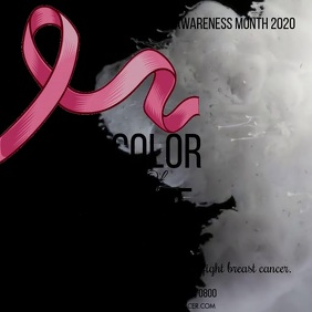 BREAST CANCER AWARENESS Square (1:1) template