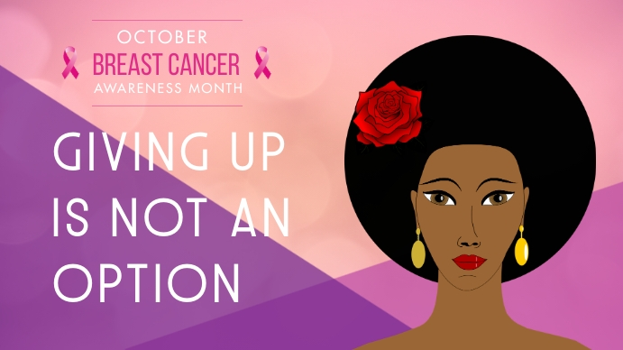 Breast Cancer Awareness Digital Display Templ template