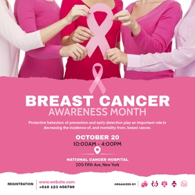 Breast Cancer Awareness Event Wpis na Instagrama template