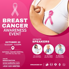 Breast Cancer Awareness Event Instagram-bericht template