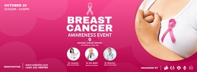 Breast Cancer Awareness Event Facebook Cover Photo template
