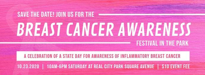 Breast Cancer Awareness Event Cover na Larawan ng Facebook template
