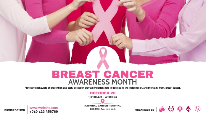 Breast Cancer Awareness Event Post sa Twitter template