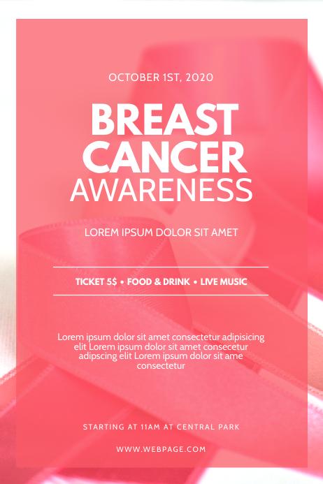 Breast Cancer Awareness Event Flyer Design