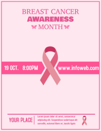 Breast cancer awareness event flyer template