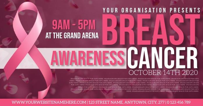 BREAST CANCER AWARENESS EVENT TEMPLATE Ibinahaging Larawan sa Facebook