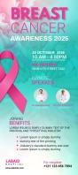 Breast Cancer Awareness Flyer Rack Card template