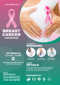Breast Cancer Awareness Flyer A4 template
