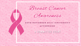 Breast cancer awareness Kartu Bisnis template