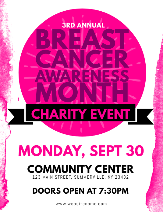 breast cancer awareness flyer template postermywall