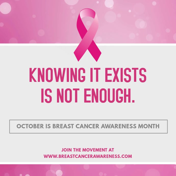 Breast Cancer Awareness Inspirational Quote Video Ad Template