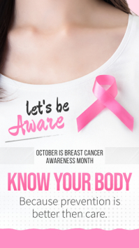 Breast Cancer Awareness Instagram Story template