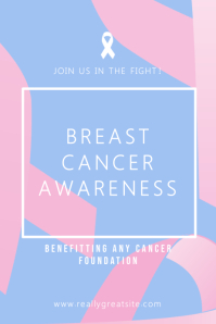 Breast Cancer Awareness Modern Poster Template