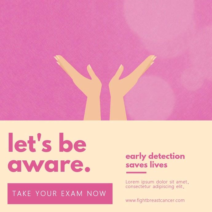 Breast Cancer Awareness Modern Video Ad Template