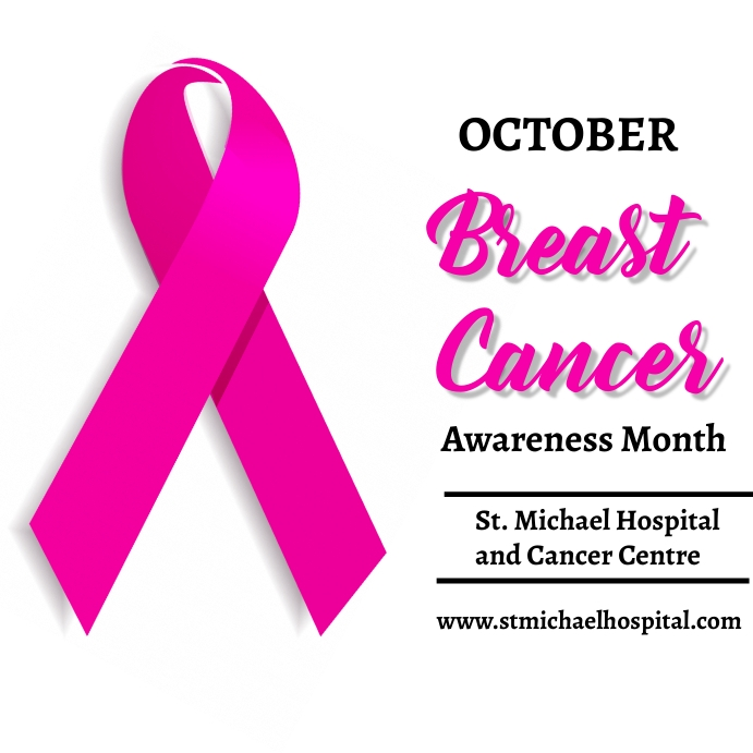 Breast Cancer awareness month Instagram na Post template