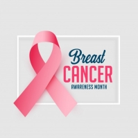Breast cancer awareness month flyer/logo Logótipo template