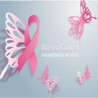 Breast cancer awareness month flyer/logo template