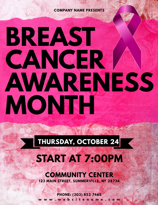 Breast Cancer Awareness Month Flyer Template Postermywall