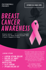 Breast Cancer Awareness Month Flyer Template Poster