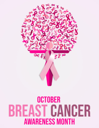 Breast Cancer Awareness month poster flyer