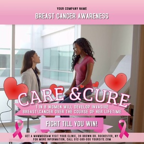 Breast Cancer Awareness Month Square Video