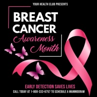 Breast cancer awareness month video template Pos Instagram