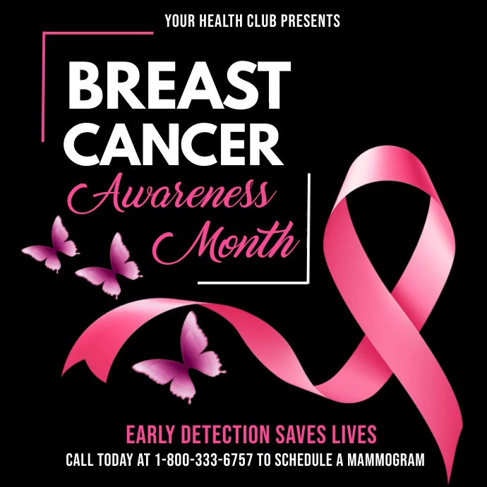 Breast cancer awareness month video template Instagram na Post