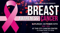 Breast Cancer Awareness post design Facebook Cover Video (16:9) template