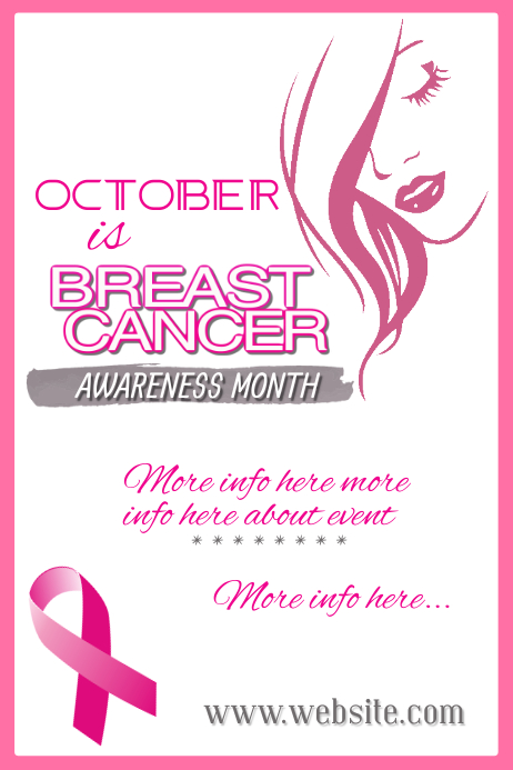 Breast Cancer Awareness Poster template
