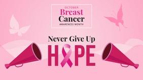 Breast Cancer Awareness Slogan Digital Displa template