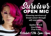 Breast Cancer awareness survivor open mic Ikhadi leposi template