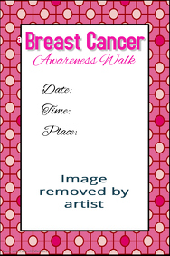Breast Cancer Awareness Walk Fundraiser Poster Template